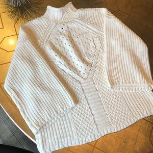 NOWT One A turtleneck sweater w/ kimono sleeve